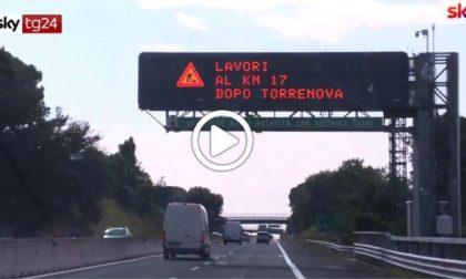 Autostrade: via libera ai tutor, sistema riattivato per il controesodo VIDEO