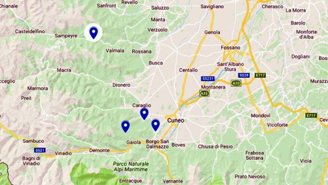 Sciame sismisco nel Cuneese: 4 scosse di terremoto in due ore