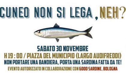 Cuneo non si Lega e in piazza sarà flash mob con le sardine