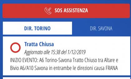 Nuova frana sull'A6, chiusa la Torino Savona
