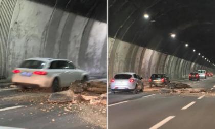 Crolla un pezzo di soffitto, chiuso tratto dell'A26 Gravellona-Genova