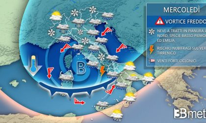 Meteo Cuneo: in arrivo la neve anche a basse quote