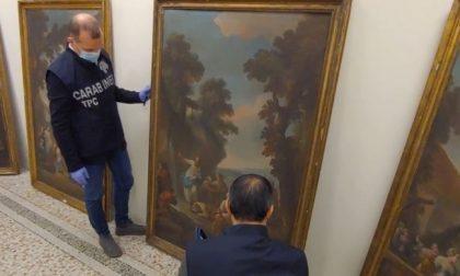 Furto d'arte: ritrovati dai Carabinieri i quadri da 100.000 euro rubati vent'anni fa