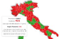 L'incidenza dei contagi cala, ma il Piemonte rimane sempre da zona rossa: Cuneo sopra quota 400
