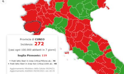 Piemonte in zona arancione da lunedì, ma la provincia di Cuneo rischia di restare rossa