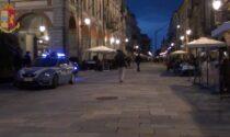 Rissa in centro a Cuneo dopo le 22, multati 8 giovani