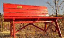 Sulla scia della panchina gigante cuneese arriva un nuovo esemplare sul Po