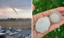 Nella Granda tornado e grandine grande come palle da tennis